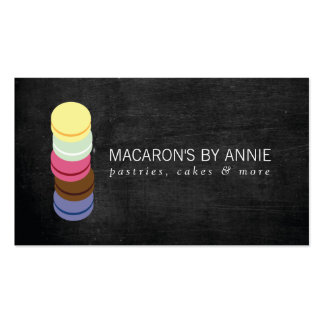 FRENCH MACARON STACK LOGO III Bakery, Pastry Chef Double-Sided Standard Business Cards (Pack Of 100)