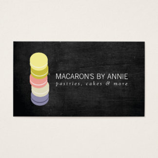 FRENCH MACARON STACK LOGO IV Bakery, Pastry Chef Business Card