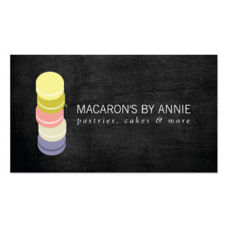 FRENCH MACARON STACK LOGO IV Bakery, Pastry Chef Double-Sided Standard Business Cards (Pack Of 100)