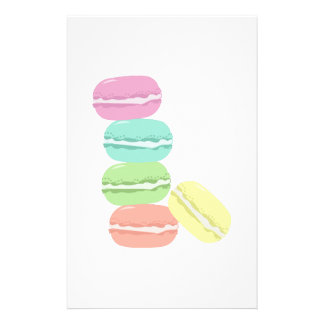 French Macaron Stationery Paper