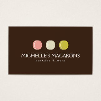 FRENCH MACARON TRIO LOGO 2 for Bakery, Pastry Chef Business Card