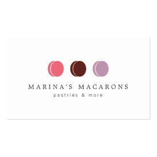 FRENCH MACARON TRIO LOGO 3 on White Double-Sided Standard Business Cards (Pack Of 100)