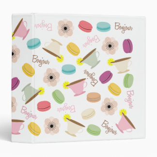 French Macarons Anemones & Teacups Binder