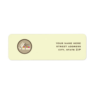 French Macarons Bonjour Address Labels