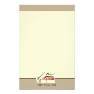 French Macarons Bonjour! Personalized Stationery