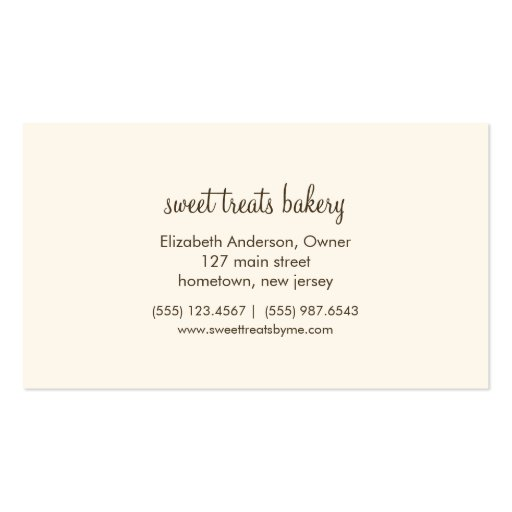 French macarons business card template reheart Choice Image