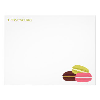 French Macarons Custom Note Cards