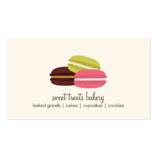 French Macarons Double-Sided Standard Business Cards (Pack Of 100)
