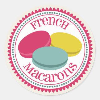 French Macarons Envelope Seal Sticker