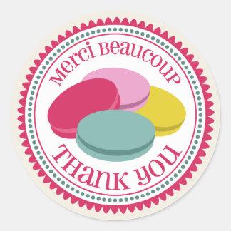 French Macarons Merci Envelope Seal Sticker