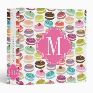 French Macarons Personalized Binder