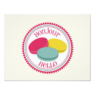 French Macarons Personalized Flat Notecards