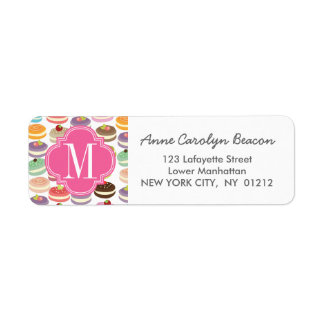 French Macarons Personalized Label