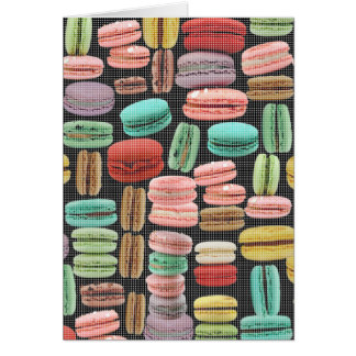 French Macarons Pop Art Card