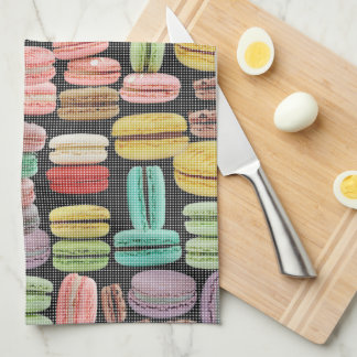 French Macarons Pop Art Hand Towel