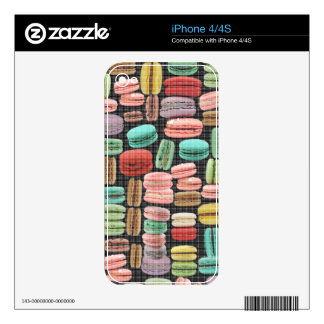 French Macarons Pop Art iPhone 4S Decal