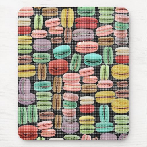 French Macarons Pop Art Mousepads