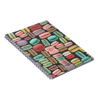 French Macarons Pop Art Spiral Notebook