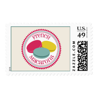 French Macarons Postage Stamp
