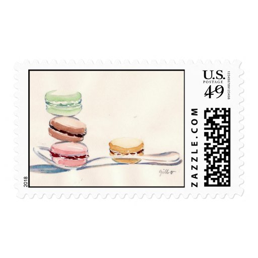 French Macarons Stamp