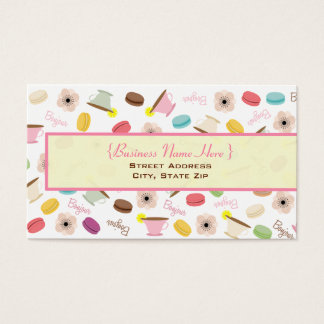 French Macarons & Teacups Business Card