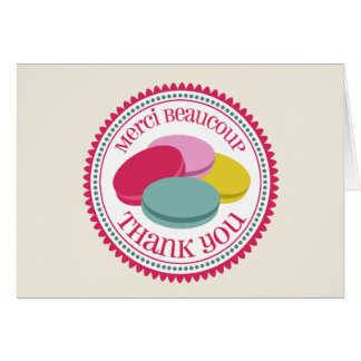 French Macarons Thank You Card - Merci Beaucoup