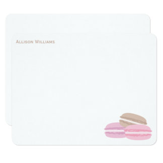 French Macarons Thank You Notes Card