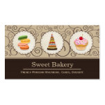 French Macaroons Cupcake Dessert Bakery Store Double-Sided Standard Business Cards (Pack Of 100)