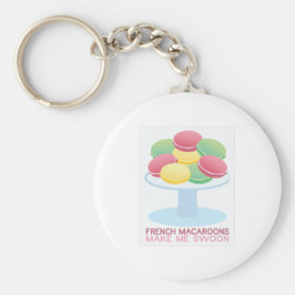 French Macaroons Make Me Swoon Keychain