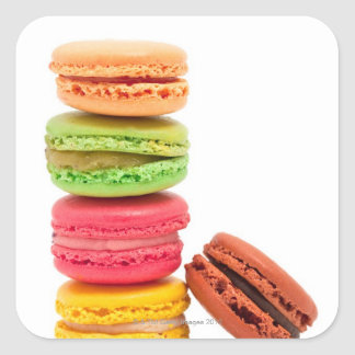 French macaroons square sticker
