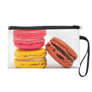 French macaroons wristlet purse