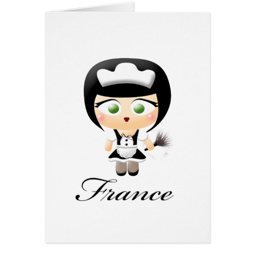 French Maid Card