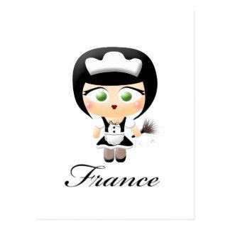 French Maid Postcard
