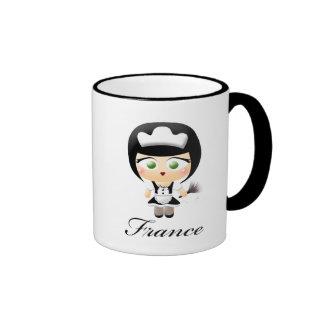 French Maid Ringer Mug