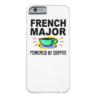 French Major Powered By Coffee Barely There iPhone 6 Case