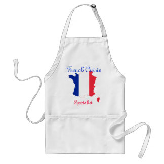 French Map Flag Adult Apron