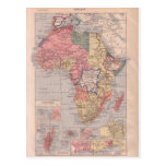French map of Africa 1920 Post Cards