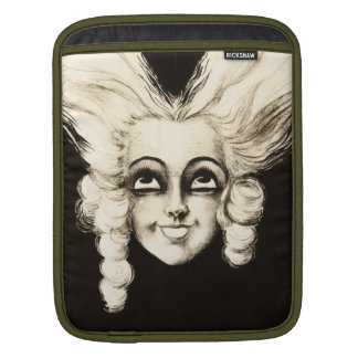 French Marionette Vintage Aristrocrat Wig Hair Sleeve For iPads