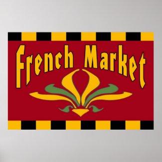 French Market Fleur De Lis Sign print