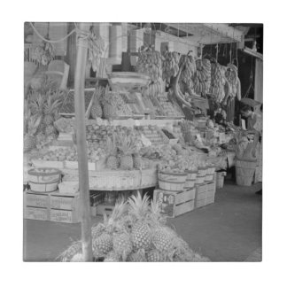French Market Fruit Stand June 1936.jpg Ceramic Tile
