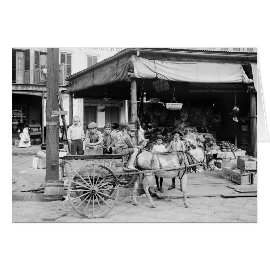 French Market, New Orleans, 1910 Card