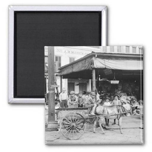 French Market, New Orleans, 1910 Magnets