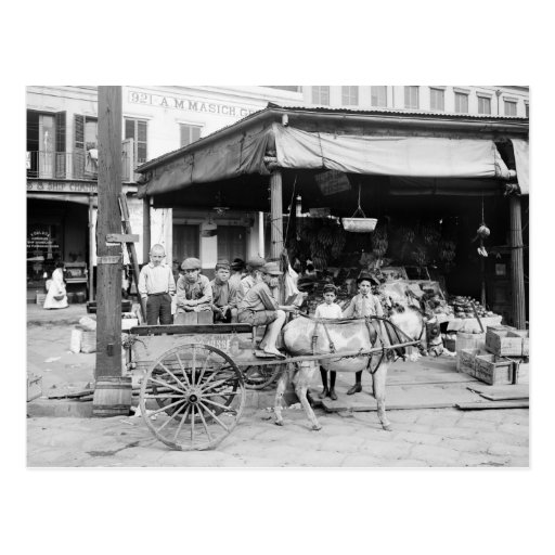 French Market, New Orleans, 1910 Postcards