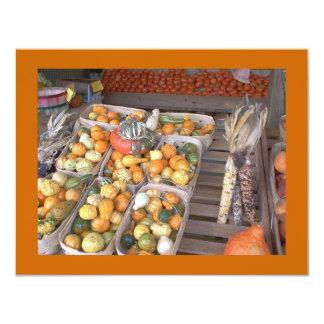 French Market Winter Squash 4.25x5.5 Paper Invitation Card