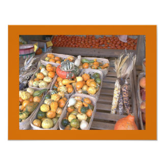 French Market Winter Squash Custom Invitations