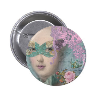 French Masquerade 2 Inch Round Button