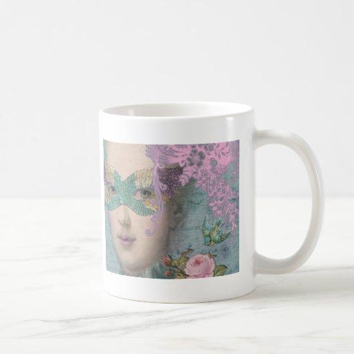 French Masquerade Classic White Coffee Mug