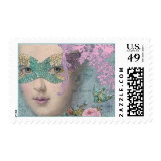 French Masquerade Stamp