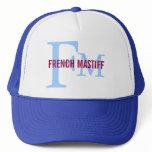 French Mastiff Breed Monogram Design Trucker Hat