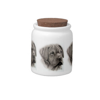 French Mastiff Candy Dishes
